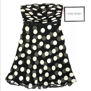 Ann Taylor Silk Polka Dot Sleeveless Dress